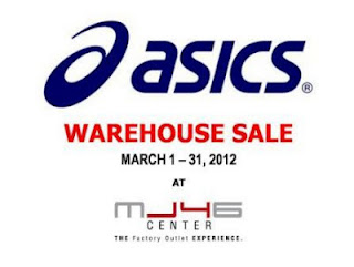 Asics warehouse sale march 2012
