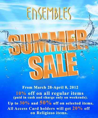 Ensembles Summer Sale 2012