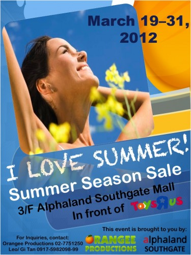 I Love Summer! Summer Season Sale 2012