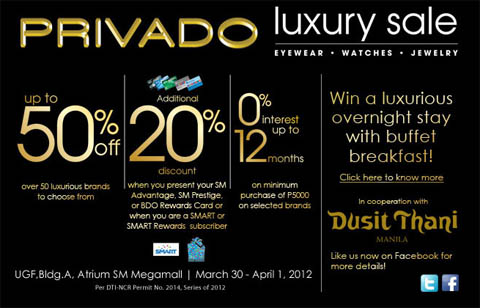 Privado Luxury Sale at SM Megamall