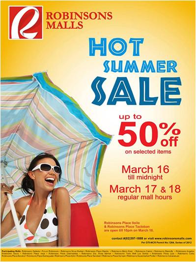 Robinsons Hot Sale 2012 poster