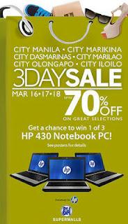 SM Malls Sale march 16-18 2012