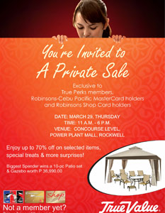True Value Private Sale March 2012