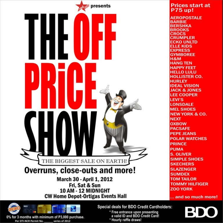The Off Price Show March 30 April 1 2012 Manila On Sale