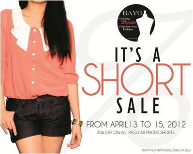 Bayo Shorts Sale April 2012