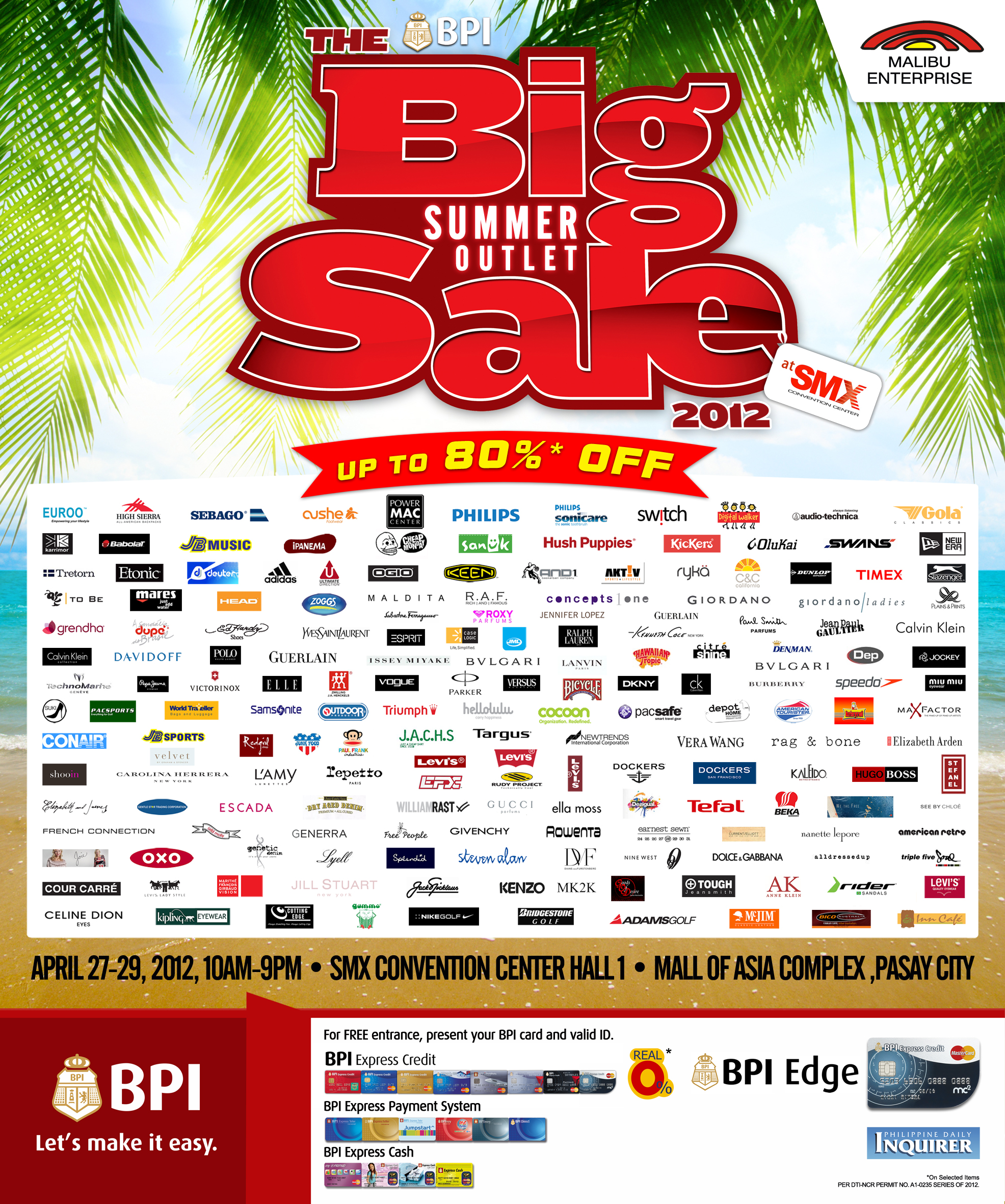 Big Summer Outlet Sale 2012