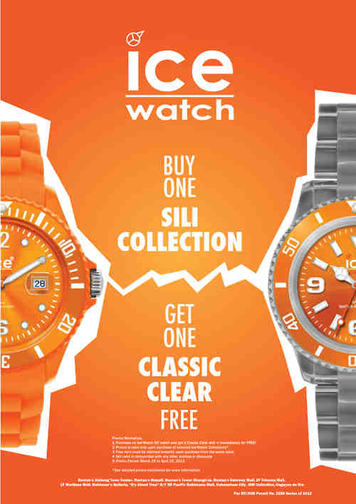 Ice Watch: Buy 1 Take 1 Promo April 2012