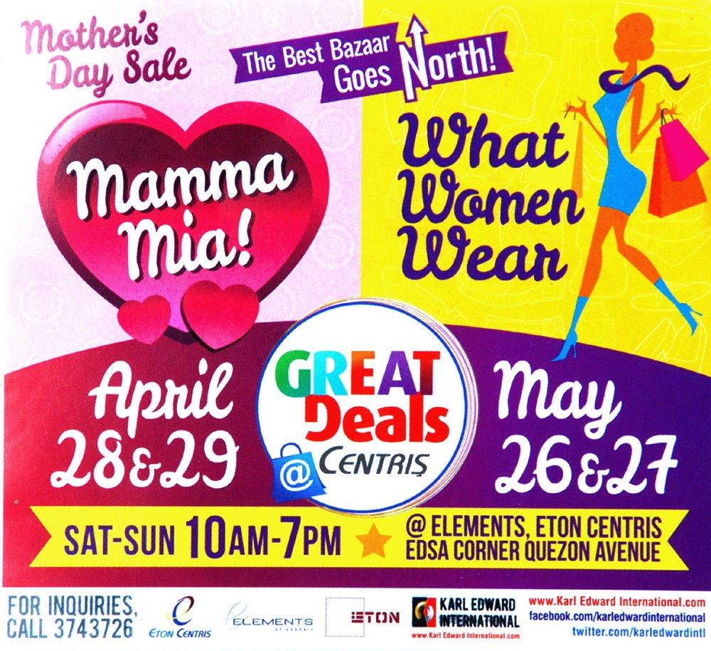 Mamma Mia Bazaar: April 28 - 29, 2012