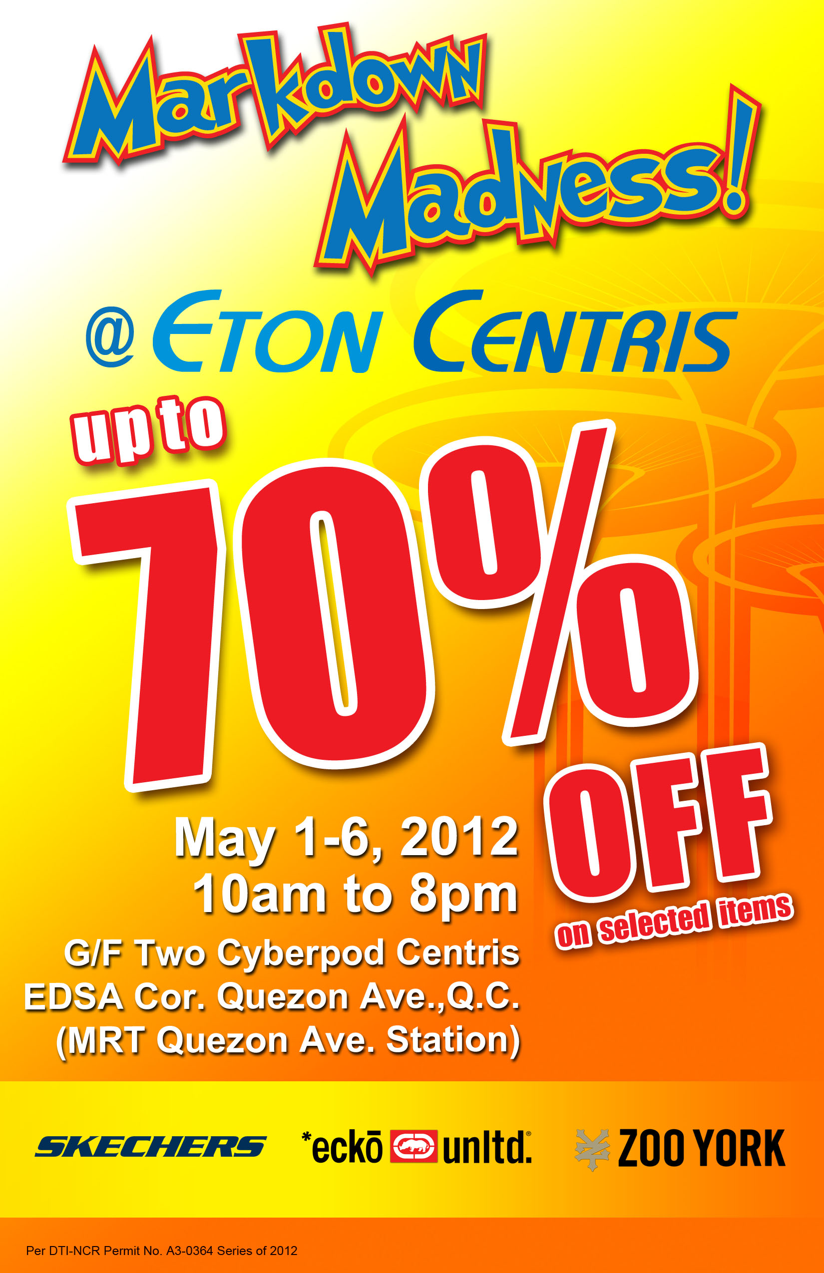 Markdown Madness @ Eton Centris May 2012