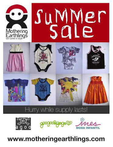 Mother Earthlings Summer Sale April 2012