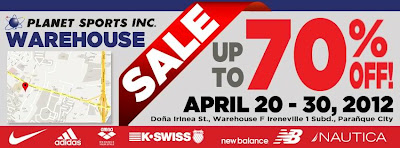 Planet Sports Warehouse Sale April 2012