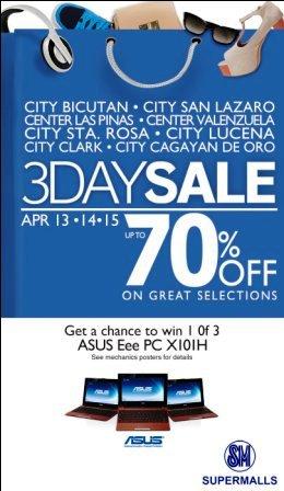 SM Malls-Bicutan-Sta Rosa-Sale Apr 14 2012