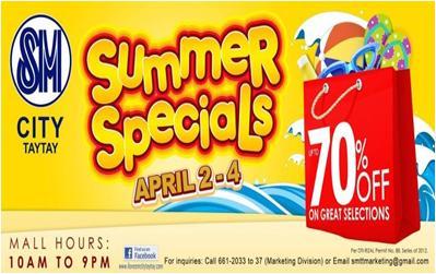 SM Taytay Summer Specials 2012