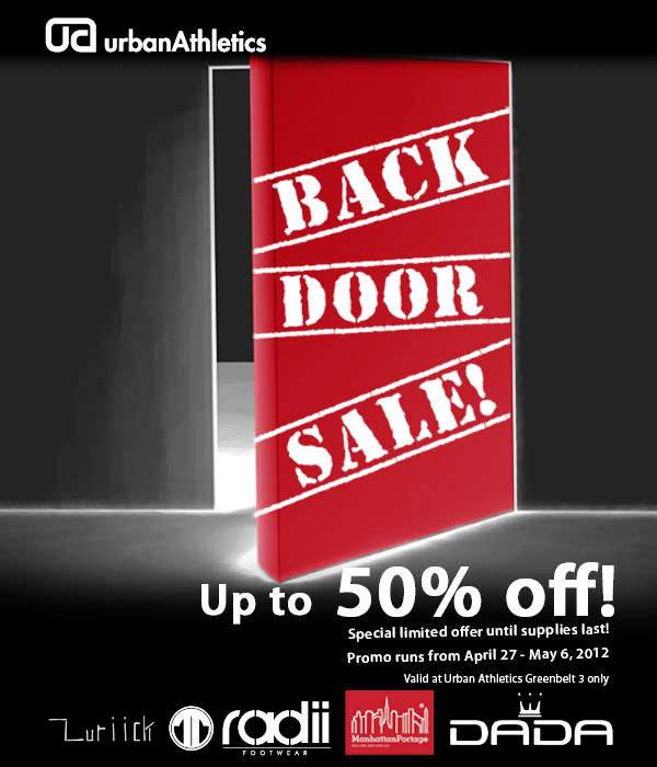 Urban Athletics Back Door Sale 2012