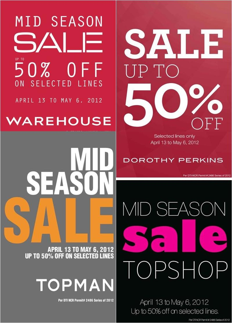Warehouse-Topshop-Topman-Dorothy Perkins Mid-Season Sale