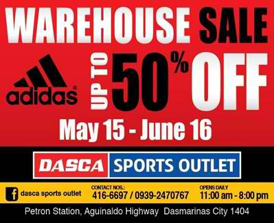 Adidas Warehouse Sale @ Dasca Sports Outlet May - June 2012