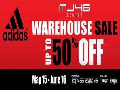 Adidas Warehouse Sale May 2012