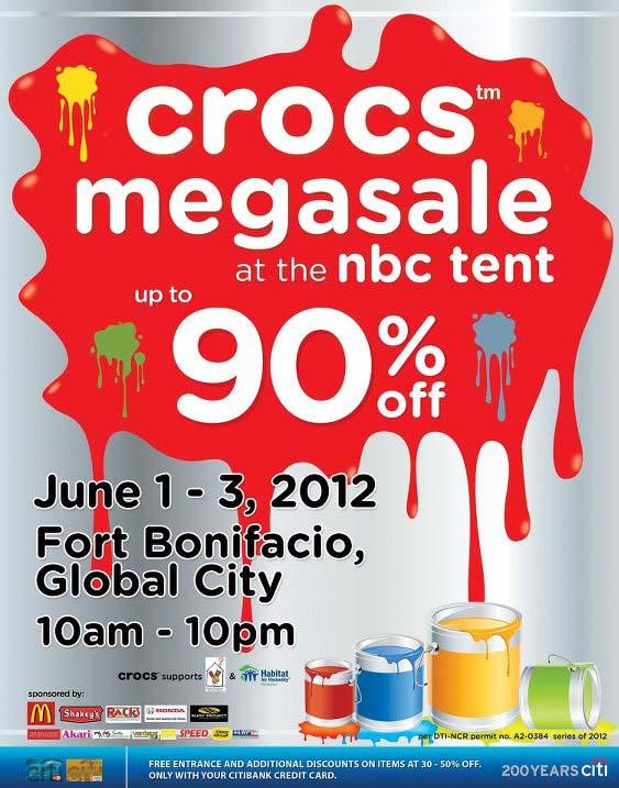 Crocs Megasale @ NBC Tent June 2012