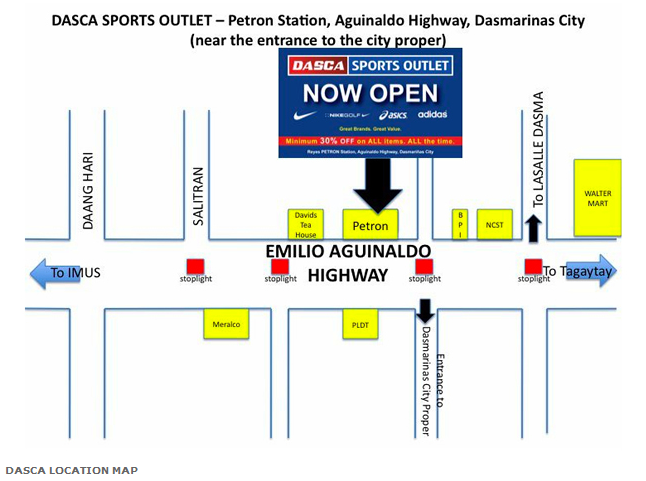 Dasca Sports Outlet Location Map