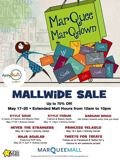 Marquee Mall Marqdown Sale May 2012