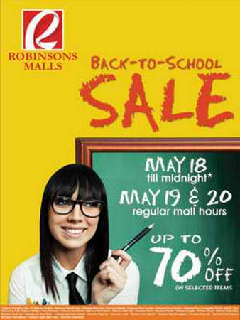 Robinsons Malls Back To School sale May 2012