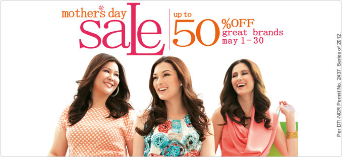 SM Dept Store Mother's Day Sale May 2012