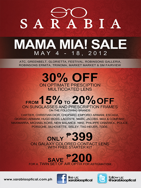 Sarabia Optical Sale May 2012