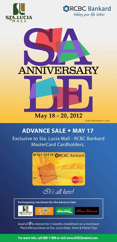 Sta Lucia East Grand Mall Anniversary Sale May 2012