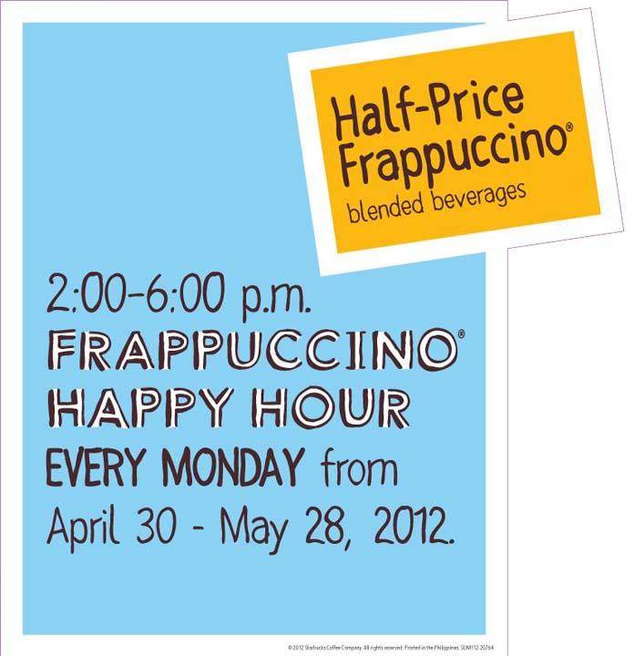 Starbucks Frappuccino Happy Hour 2012