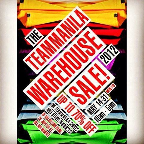 Team Manila Warehouse Sale May 2012