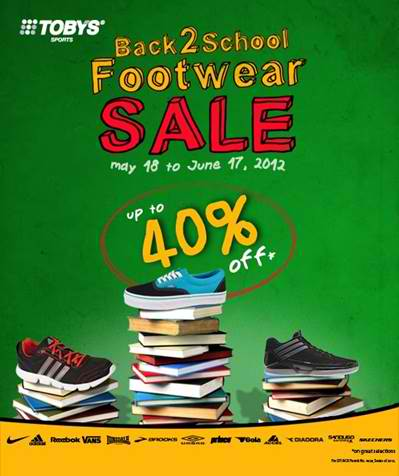 Tobys Back 2 School Footwear Sale May - June 2012