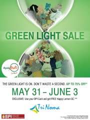 Trinoma Green Light Sale May - June 2012