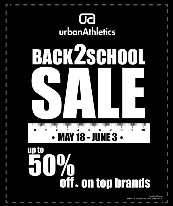 Urban Athletics Back 2 School Sale May 2012