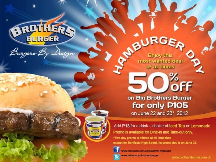 Brothers Burger Hamburger Sale June 2012