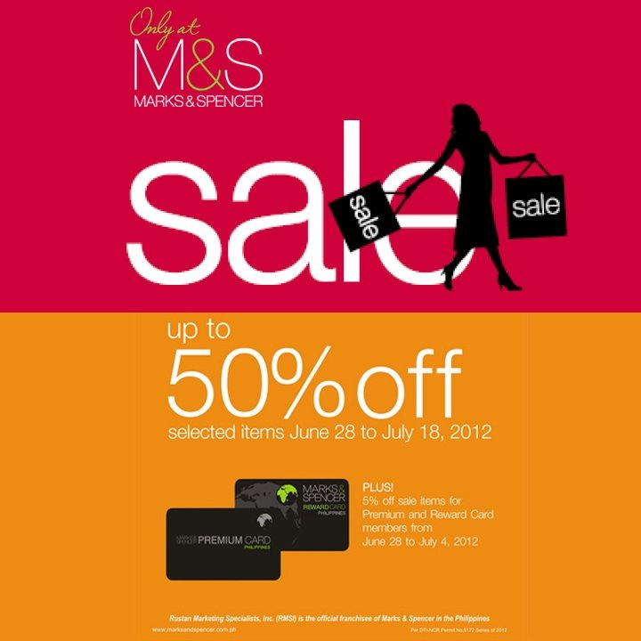 Marks and Spencer End of Season Sale June - July 2012