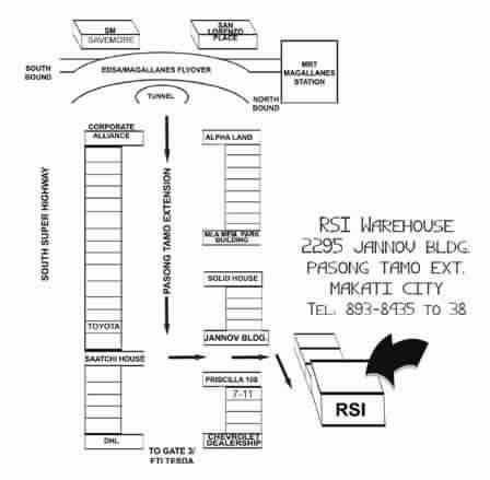 RSI Warehouse Map