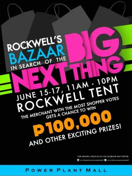 Next Big Thing bazaar @ Rockwell Tent June 2012