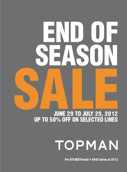 Topman End of Season Sale June 2012