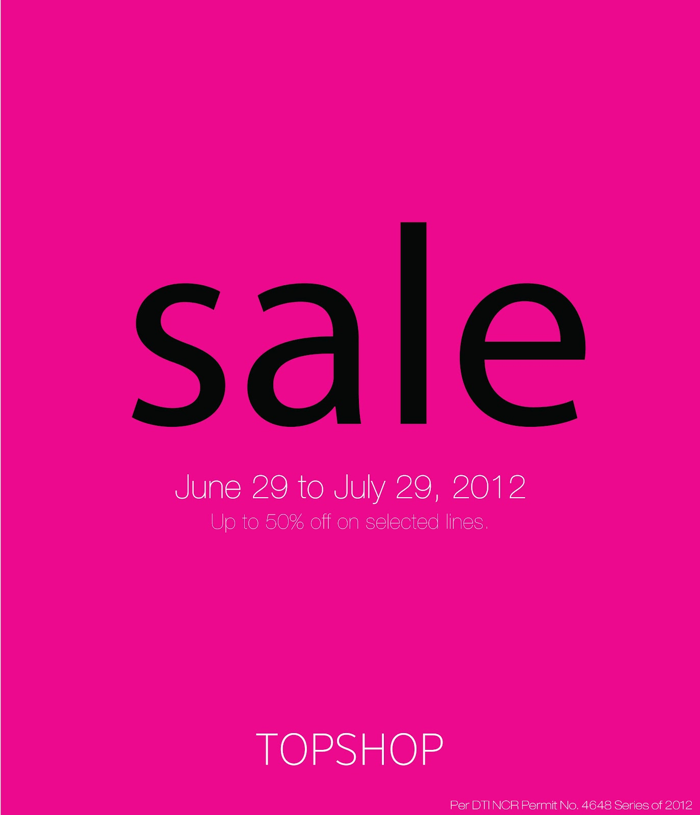 Topshop End of Season Sale June 2012