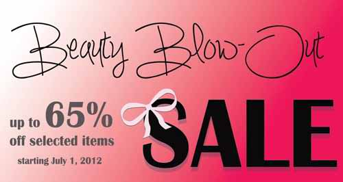 Beauty Bar Blow-Out Sale July 2012