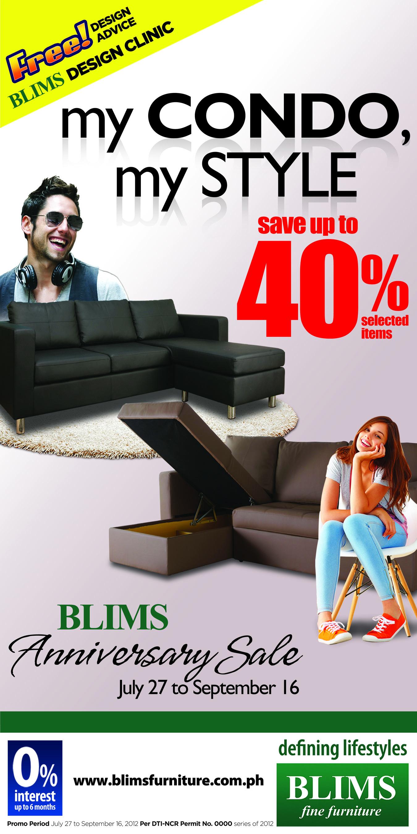 Blims Anniversary Sale July 2012