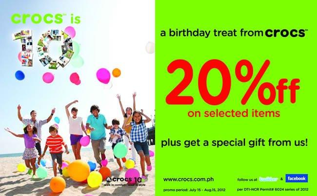Crocs Birthday Sale July - August 2012
