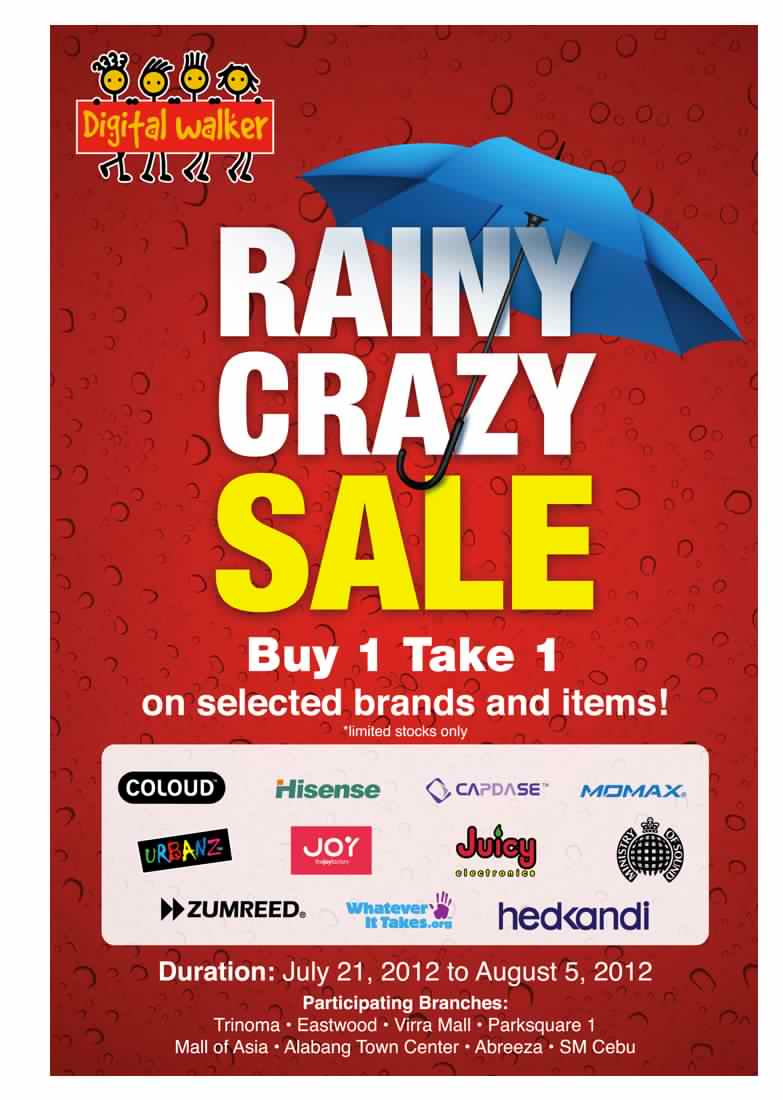 Digital Walker Rainy Crazy Sale July - August 2012