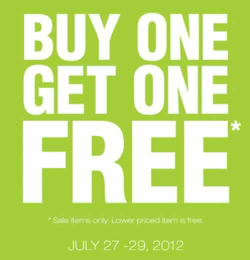 Dorothy Perkins Buy 1 Get 1 FREE promo July 2012