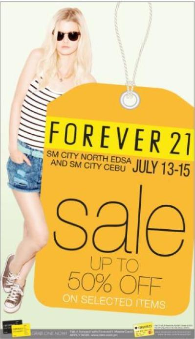 Forever 21 Sale @ SM City North Edsa and SM City Cebu July 2012