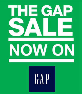 The Gap Further Reductions Sale July - August 2012