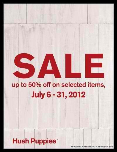 Hush Puppies Sale July 2012