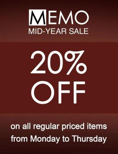 MEMO Mid Year Sale July 2012