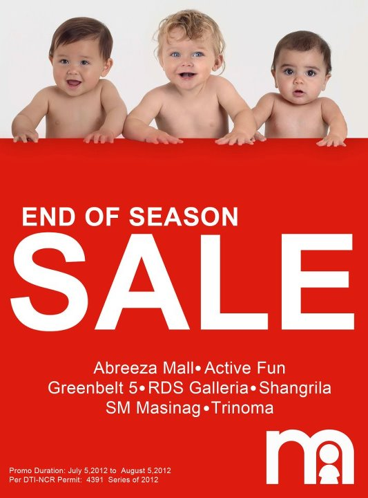 Mothercare Sale July - August 2012