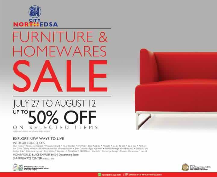 SM City North Edsa Furniture & Homewares Sale July - August 2012